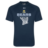 Under Armour Navy Tech Tee-Bears Basketball Hanging Net