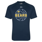 Under Armour Navy Tech Tee-Bears Basketball Lined Ball