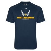 Under Armour Navy Tech Tee-Truett McConnell Cross Country Wings