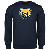 Navy Fleece Crew-Bear Head