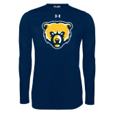 Under Armour Navy Long Sleeve Tech Tee-Bear Head