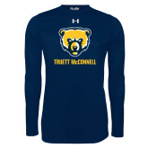 Under Armour Navy Long Sleeve Tech Tee-Bear Head Truett McConnell