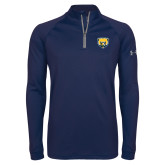 Under Armour Navy Tech 1/4 Zip Performance Shirt-Bear Head
