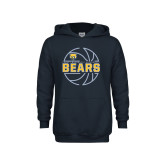 Youth Navy Fleece Hoodie-Bears Basketball Lined Ball