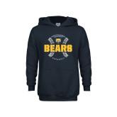 Youth Navy Fleece Hoodie-Bears Baseball Seams