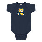 Navy Infant Onesie-Primary Logo