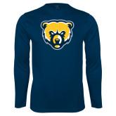 Syntrel Performance Navy Longsleeve Shirt-Bear Head