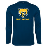 Syntrel Performance Navy Longsleeve Shirt-Bear Head Truett McConnell
