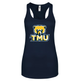 Next Level Ladies Navy Ideal Racerback Tank-Primary Logo