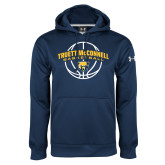 Under Armour Navy Performance Sweats Team Hood-Truett McConnell Basketball Arched