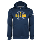 Under Armour Navy Performance Sweats Team Hoodie-Bears Baseball Seams