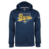 Under Armour Navy Performance Sweats Team Hoodie-Bears Baseball Plate