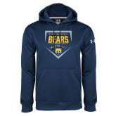 Under Armour Navy Performance Sweats Team Hoodie-Bears Softball Plate