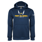 Under Armour Navy Performance Sweats Team Hood-Truett McConnell Cross Country Wings