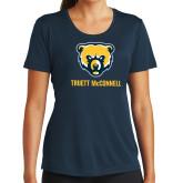 Ladies Syntrel Performance Navy Tee-Bear Head Truett McConnell