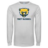 White Long Sleeve T Shirt-Bear Head Truett McConnell