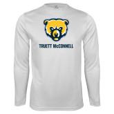 Syntrel Performance White Longsleeve Shirt-Bear Head Truett McConnell