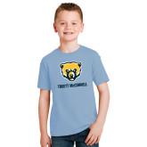 Youth Light Blue T Shirt-Bear Head Truett McConnell