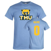 Light Blue T Shirt-Primary Logo, Custom Tee w/ Name and #