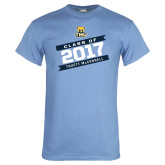 Light Blue T Shirt-Class Of - Slanted Banners, Personalized year