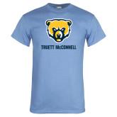 Light Blue T Shirt-Bear Head Truett McConnell