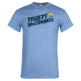 Light Blue T Shirt-Truett McConnell Slanted Slashed