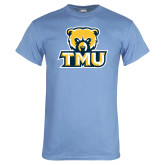 Light Blue T Shirt-Primary Logo Distressed