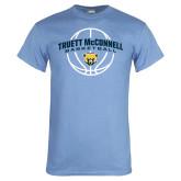 Light Blue T Shirt-Truett McConnell Basketball Arched