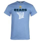 Light Blue T Shirt-Bears Basketball Hanging Net