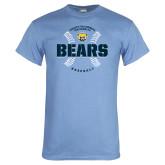 Light Blue T Shirt-Bears Baseball Seams