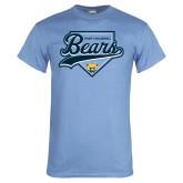 Light Blue T Shirt-Bears Baseball Plate
