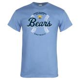 Light Blue T Shirt-Bears Softball Seams
