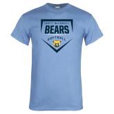 Light Blue T Shirt-Bears Softball Plate