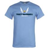 Light Blue T Shirt-Truett McConnell Cross Country Wings