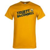 Gold T Shirt-Truett McConnell Slanted Slashed