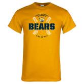 Gold T Shirt-Bears Baseball Seams