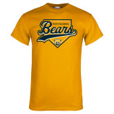Gold T Shirt-Bears Baseball Plate