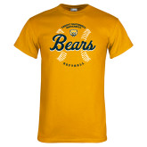 Gold T Shirt-Bears Softball Seams