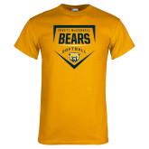 Gold T Shirt-Bears Softball Plate