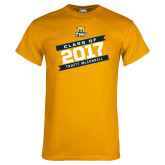 Gold T Shirt-Class Of - Slanted Banners, Personalized year