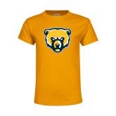 Youth Gold T Shirt-Bear Head