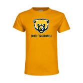 Youth Gold T Shirt-Bear Head Truett McConnell