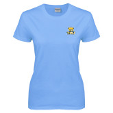 Ladies Sky Blue T-Shirt-Primary Logo