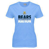 Ladies Sky Blue T-Shirt-Bears Nation