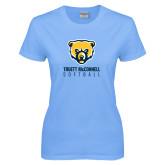 Ladies Sky Blue T-Shirt-Softball