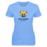 Ladies Sky Blue T-Shirt-Mom