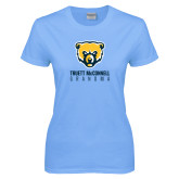 Ladies Sky Blue T-Shirt-Grandma