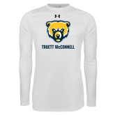 Under Armour White Long Sleeve Tech Tee-Bear Head Truett McConnell