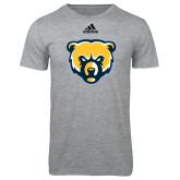 Adidas Sport Grey Logo T Shirt-Bear Head