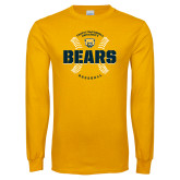 Gold Long Sleeve T Shirt-Bears Baseball Seams